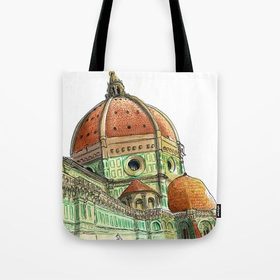 Firenze, Italy Tote Bag by World Sketching Tour - Luís Simões | Society6