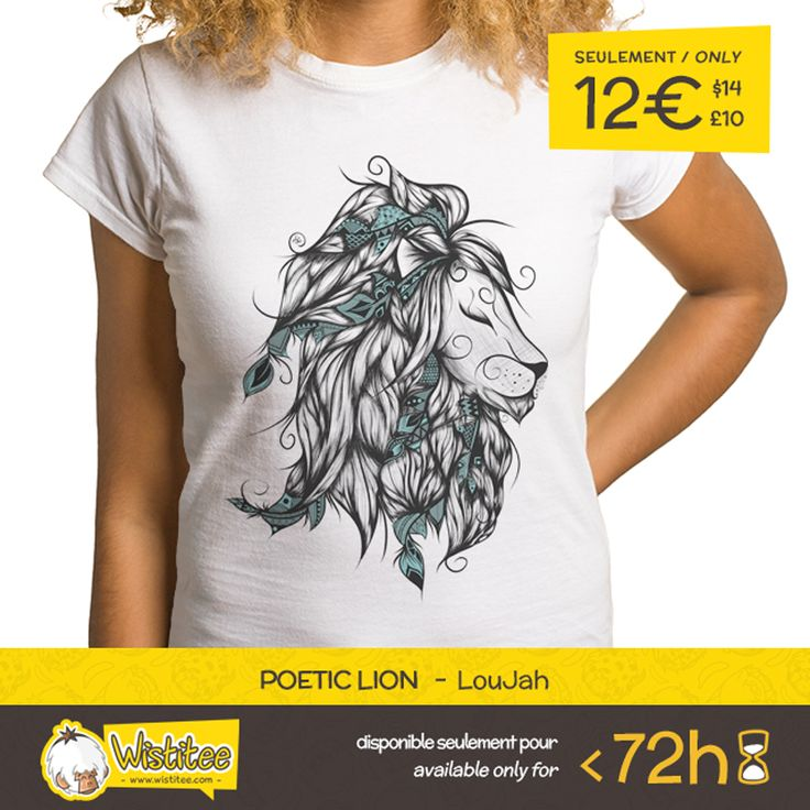 "(EN) ""Poetic Lion"" designed by the astounding LouJah is our NEW T-SHIRT. Available 72 hours, order yours today for only 12€/$14/£10 on >> www.wistitee.com <<     (FR) ""Poetic Lion"" créé par l'incroyable LouJah est notre NOUVEAU T-SHIRT. Disponible 72 heures, réservez-le vite pour seulement 12€/$14/£10 sur >> www.wistitee.com <<     #lion #lionking #spirit #bohostyle #tattoo #poetic #life #animal #iloveanimals #liontattoo #cute #abstract #animalforms #pencil #draw #drawing #doodle #boho…"