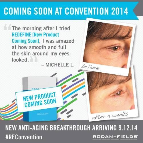 Something new is being released soon! On Friday, September 12, 2014, Dr. Katie Rodan and Dr. Kathy Fields will be lifting the curtain on the all-new anti-aging breakthrough from Rodan + Fields® … a powerhouse combination of pure, hard-working ingredients and unexpected technology that produces extraordinary results. Here's a sneak peek at how this state-of-the-art product can visibly transform skin … no appointment necessary. #RodanandFields #antiaging #skincare