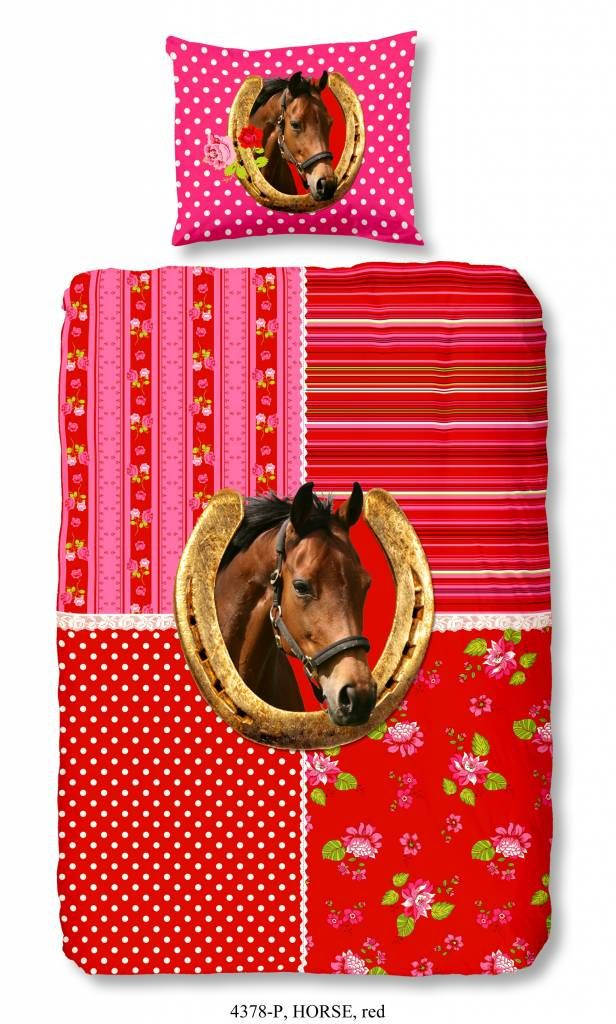 Kids-Style Dekbedovertrek Paard 4337 flanel
