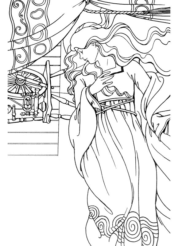 98 best iColor  - copy coloring pages princess sleeping beauty