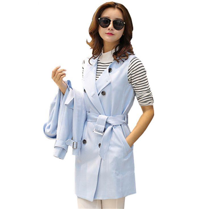 Купить товарНовое поступление 2015 весна и осень новое женщины из двух частей пальто женские высокое качество свободного покроя длинный кардиган плащ в категории Тренчина AliExpress.                        Спецификация: