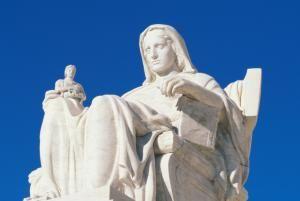 Explore a Building of Blind Justice: The US Supreme Court Building: Contemplation of Justice Sculpture