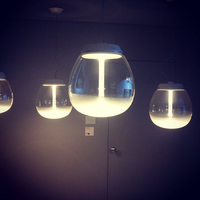 Via anna_vis_a_vis_interiors on Instagram VIDEO : The future of home lighting. Empatia lights with wifi comunication at Artemide showroom. #artemide #empatia #wifi #lighting #lightingdesign #technology