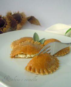 Ravioli alla castagne e gorgonzola