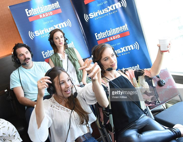 Actor Michael Eklund and actresses Katherine Barrell, Dominique Provost-Chalkley and Melanie Scrofano attend SiriusXM's Entertainment Weekly Radio Channel Broadcasts From Comic-Con 2016 at Hard Rock Hotel San Diego on July 21, 2016 in San Diego, California.