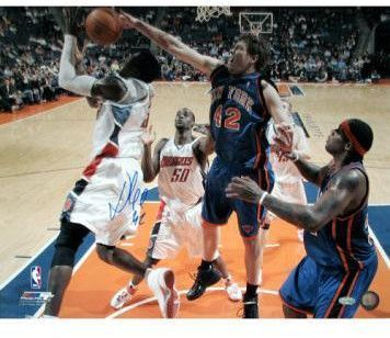 David Lee Blocking Gerald Wallace 16x20 Photo