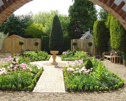 Modelos de jardines peque os para casas dise o de - Como hacer un jardin pequeno ...
