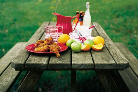 Classic picnic table: elbow-to-elbow dining and climb-over seating   Photo: Michael Grimm   thisoldhouse.com