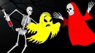 Skeleton Finger Family Rhymes Song For Kids | Skeleton Vs Colors Ghost Nursery Rhymes Collection