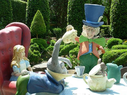The Storybook Garden. The Mad Hatter's Tea Party. Hunter Valley Gardens. Australia