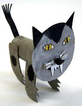 Recycle TP Rolls Tubes  #Cat ferocious #eyes