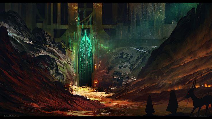 Portão escondido da cidadela das profundezas