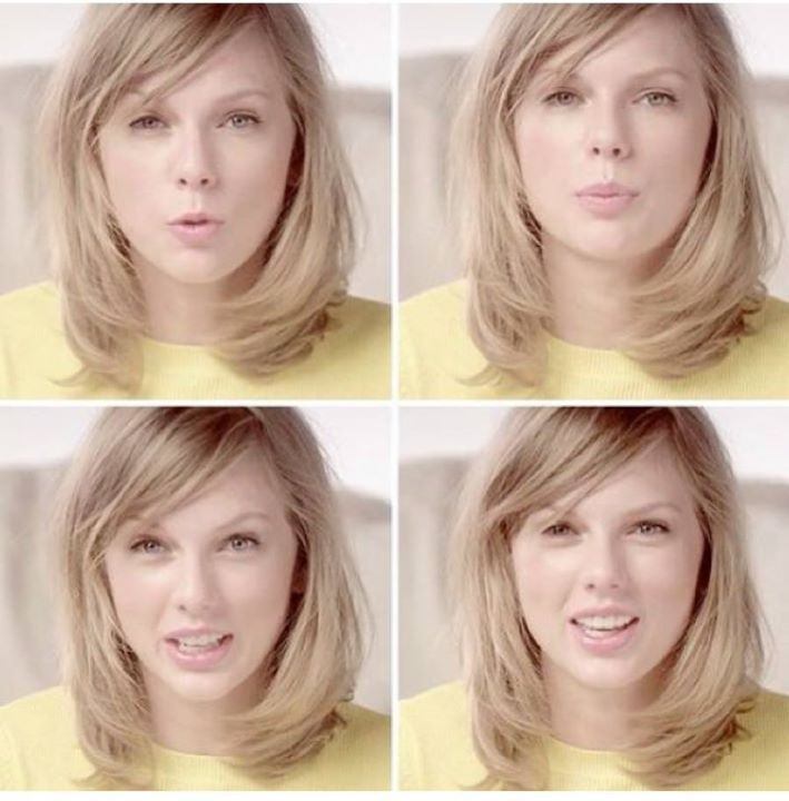 Taylor Swift without makeup. I think she looks pretty.