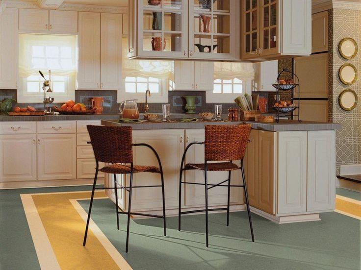 Linoleumboden für Küche hat zahlreiche Modelle
