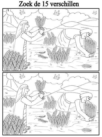 Ruth en Boaz Zoek de 15 verschillen