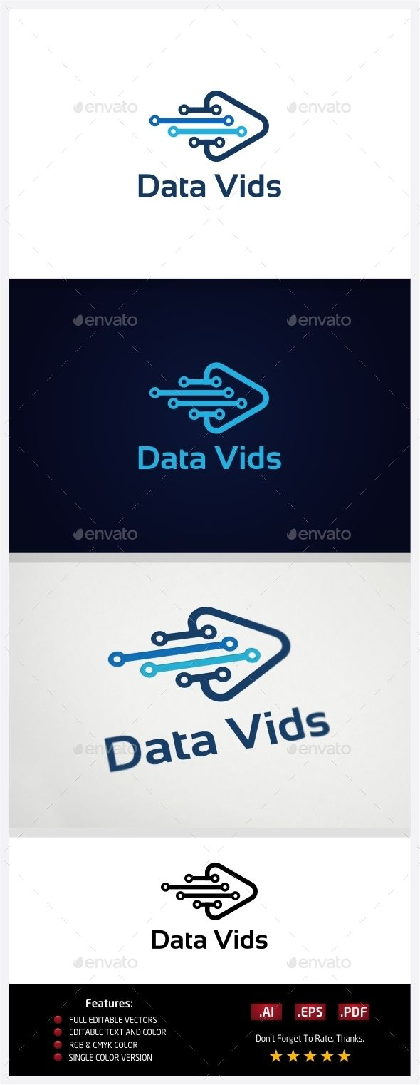 Data Video Logo Template Vector EPS, AI #design #logotype Download: http://graphicriver.net/item/data-video/10773387?ref=ksioks
