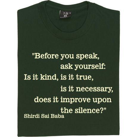Before you speak ...