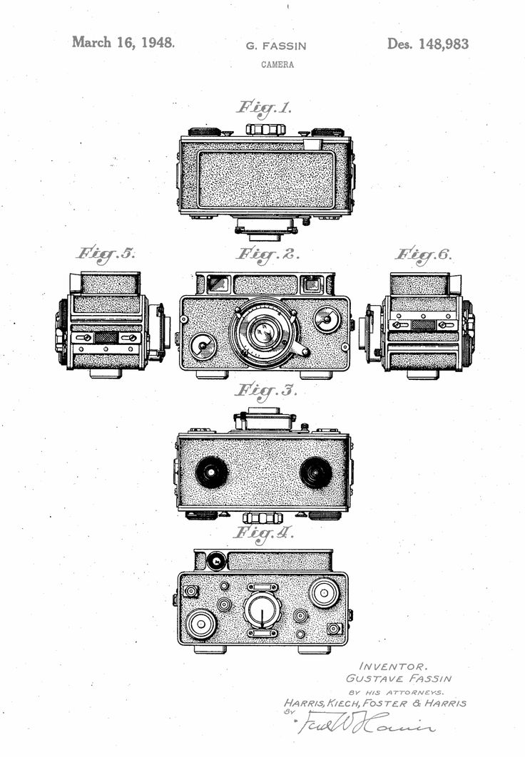 patent design for a camera