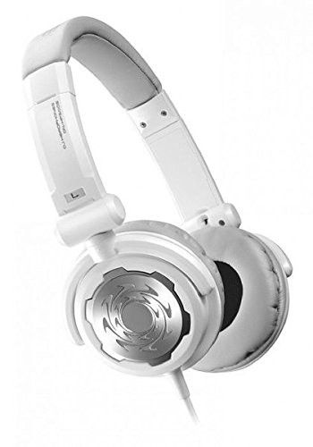 Denon DJ DN-HP500S | Comfortable Full-Size Supra-Aural On-Ear Dynamic DJ Headphones (White / 40mm / 1300mW)