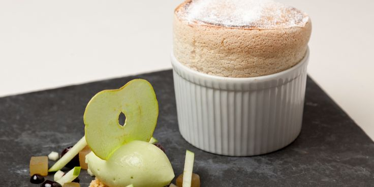 Warm ginger and sweet apple are combined in this elegant soufflé recipe from one of Britain's leading chefs, Simon Haigh