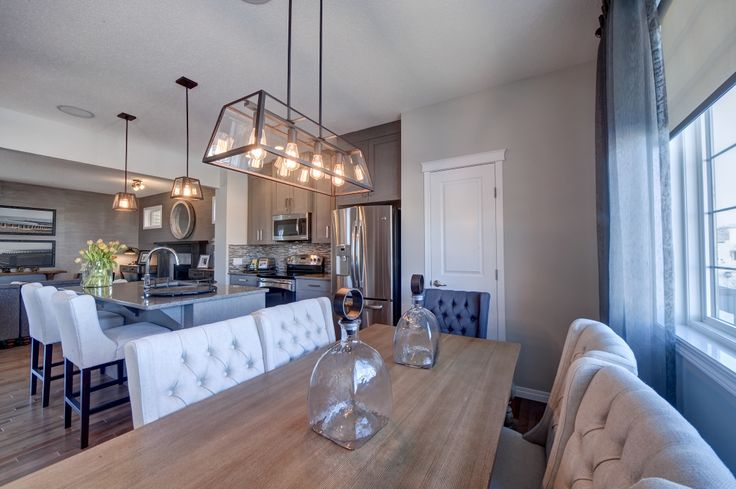 Dining room design from our Brandt showhome in Canals Landing, Airdrie.