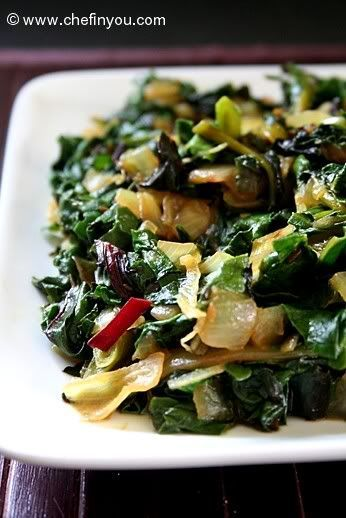 Beet Greens Recipe with Green Garlic | Golden and Red Beet Greens Recipe