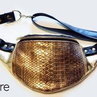 gold reptali 002, torebki na pas - damskie