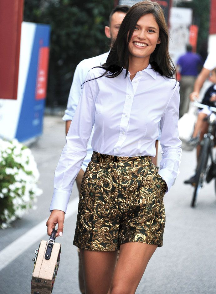 Bianca Balti in Dolce&Gabbana SS2015 at the Venice Film Festival 2014 day look