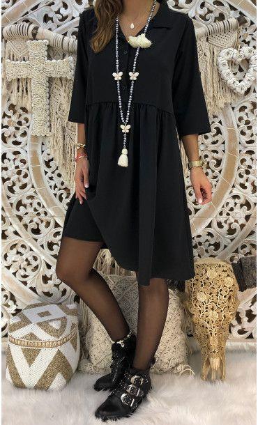 66323cd1092 Petite Robe Loma Noir