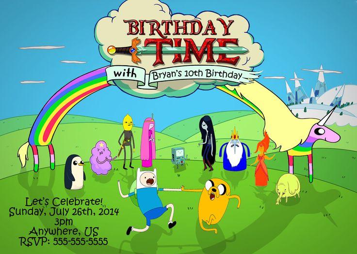 Adventure Time Birthday Party Invitations $8.99