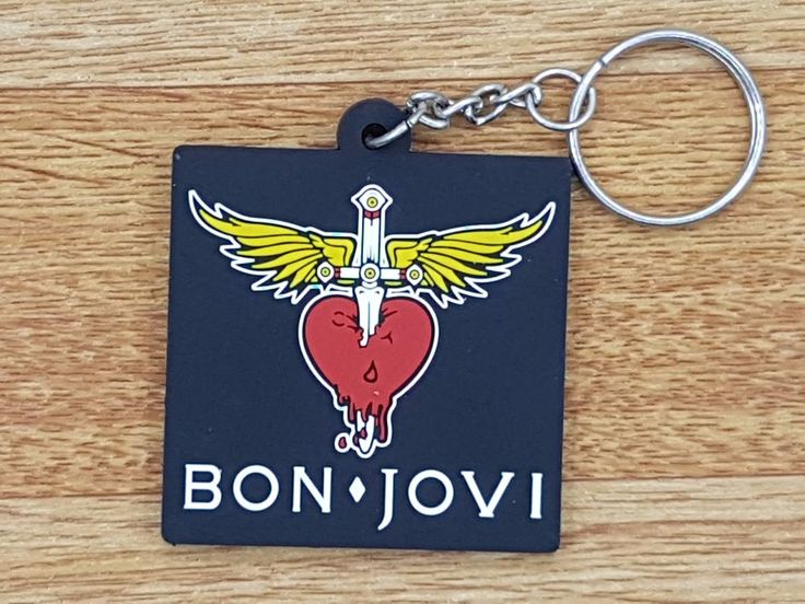 Logo Heavy Rock Music Band Rubber Keyring Keychain Biker Rock Punk with METAL #Unbranded