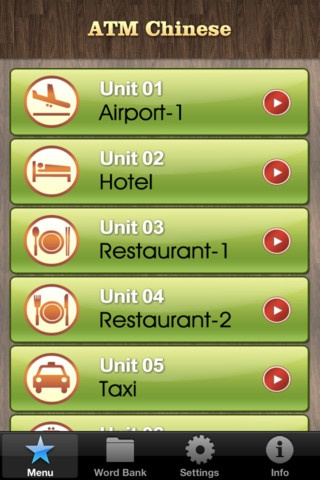 Basic Conversation App: ATM Chinese - Taveling App for iPhone and iPad.  FREE for limited time only.  This is an app would come handy when you travel.  #app #flteach #Chinese