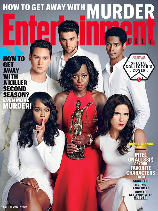 The cast on the cover of Entertainment Weekly.
