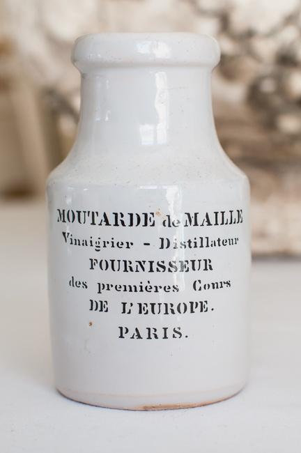 Vintage French Mustard Pot.