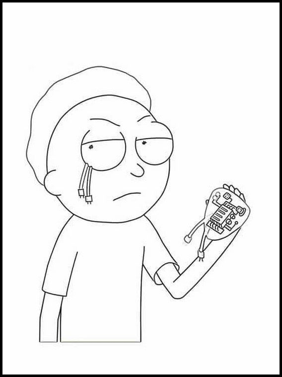 Rick And Morty 5 Printable Coloring Pages For Kids Rick And Morty Rick And Morty Image Coloring Pages