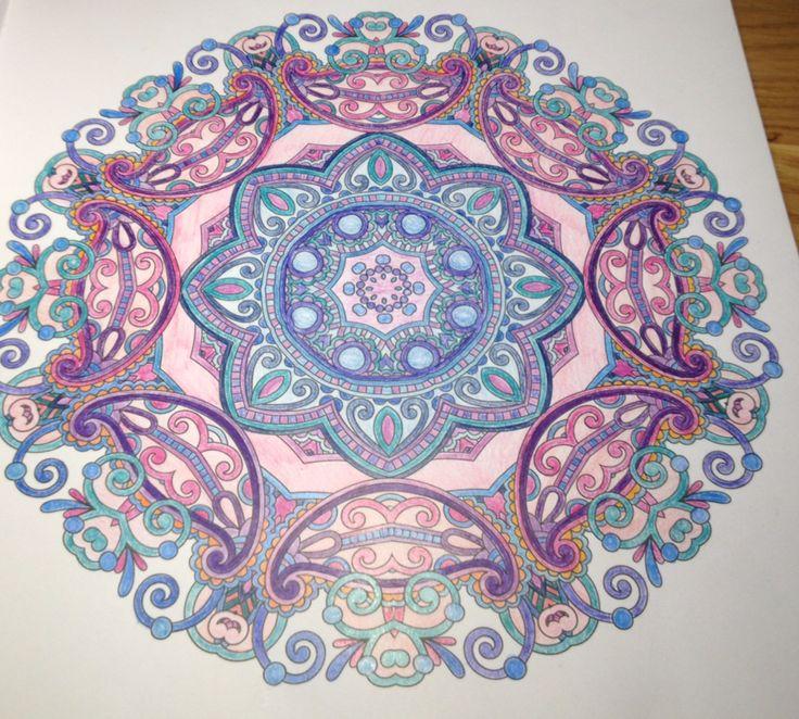 Blauw roze paars
