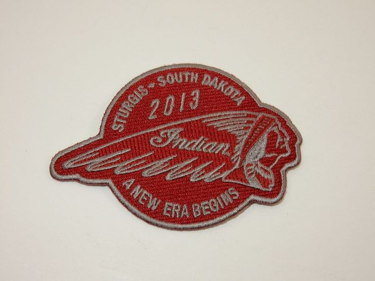 Sturgis South Dakota 2013 Red Motorcycle Sew On Patch
