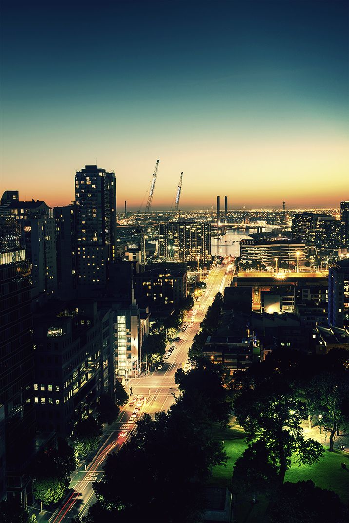 Docklands view by night; Melbourne.