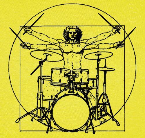 Camiseta Hombre de Vitruvio Batería - nº 1064960 - Camisetas latostadora