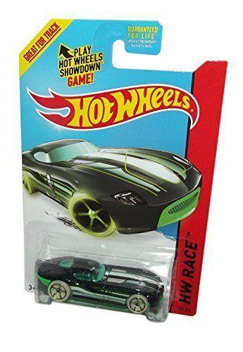 2014 Hot Wheels 189/250 Hw Race - Fast Felion (Black & Green) #HotWheels