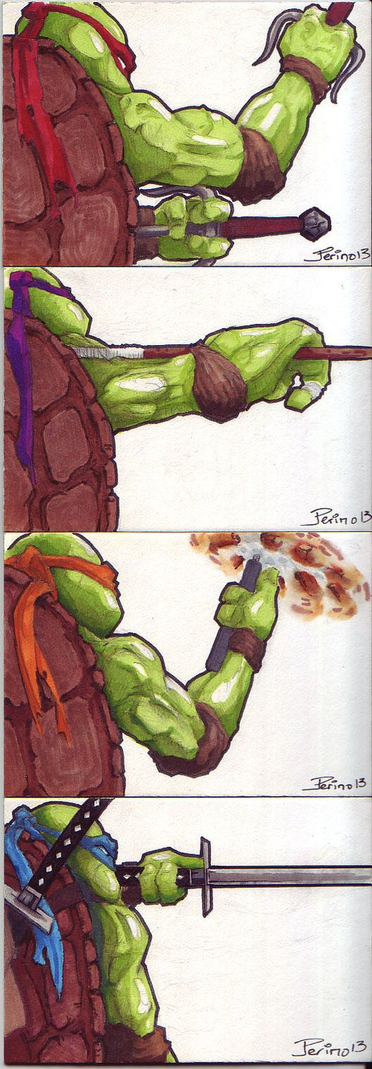 Sometimes the crop really makes the composition! Great Teenage Mutant Ninja Turtles series by ringbearer80 on deviantart