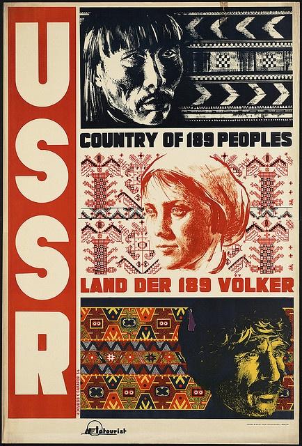 USSR. Country of 189 peoples: Vintage Posters, 189 Völker, Vintage Travel, Travel Posters, Photo, 189 People, Boston Public Libraries, Land Der, Der 189
