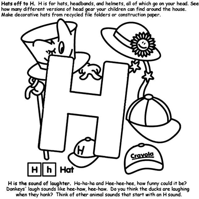 Hedgies surprise coloring pages ~ 28 best Letter H images on Pinterest | A letter, Letter ...