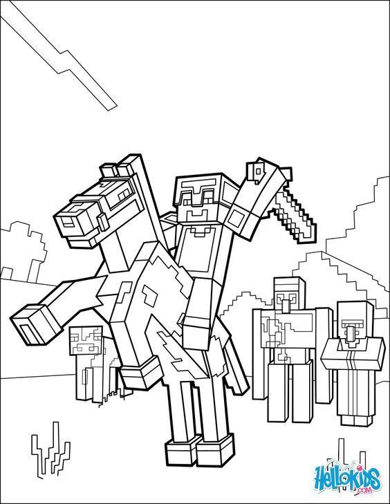 Lego City Kids Desenhos Para Colorir Do Minecraft