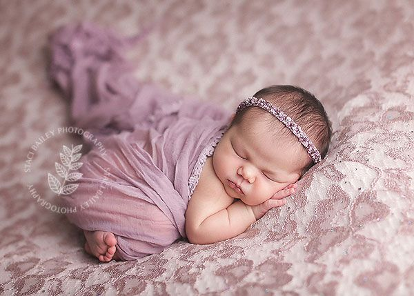 Newborn girl in lavender - Need to find some pretty lace @nikki striefler Dimmock