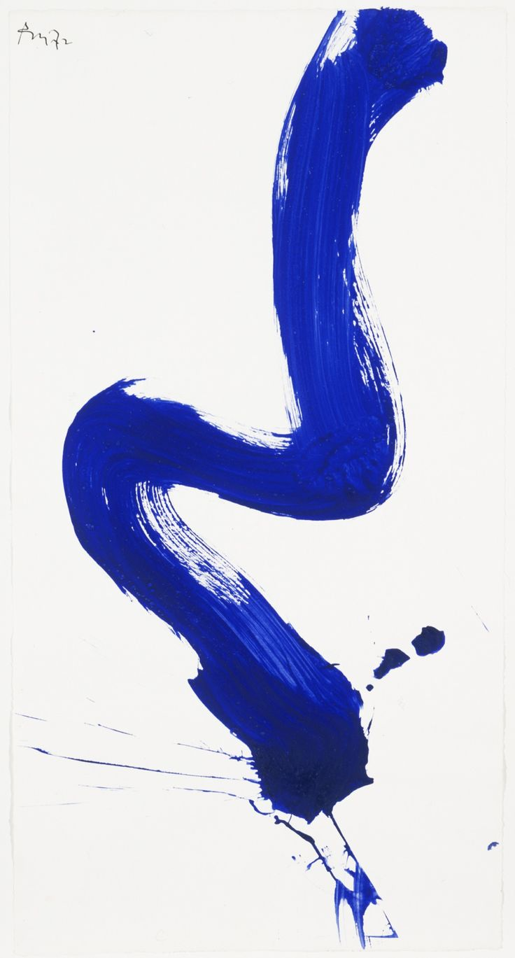 Robert Motherwell: Blue Gesture Series No. 3 (1972). Acrylic on paper.