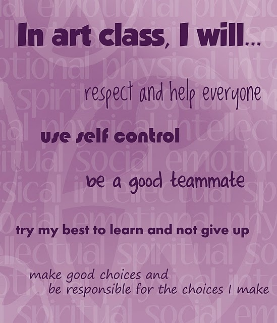 Interesting poster for an art class - idea would be easy to adapt to a general classroom