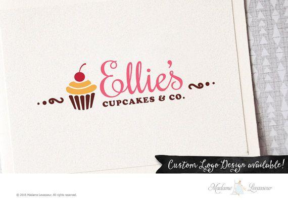 Premade logo design cupcake logo bakery logo by MadameLevasseur