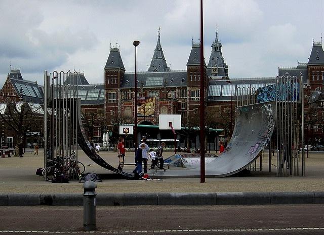 random vert ramp in th middle of Amsterdam   Halfpipe  Skateboards